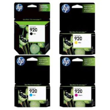 HP 920XL Ink Cartridge Value Pack - Includes: [1 x Black, Cyan, Magenta, Yellow]