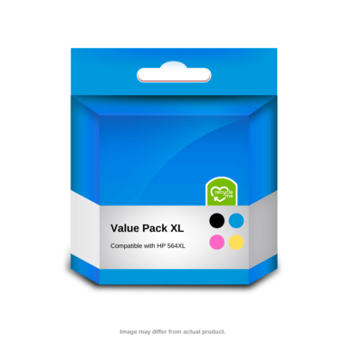 HP Compatible 564XL Value Pack - Includes black, cyan, magenta and yellow