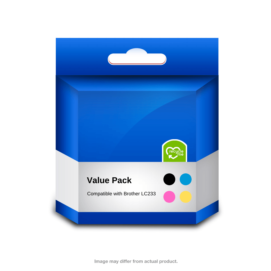 Brother Compatible LC233 Value Pack - Includes black, cyan, magenta and yellow