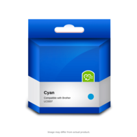Brother Compatible LC3337C Cyan Ink Cartridge