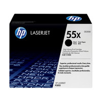 HP 55X (CE255X) Black Toner Cartridge - High Yield