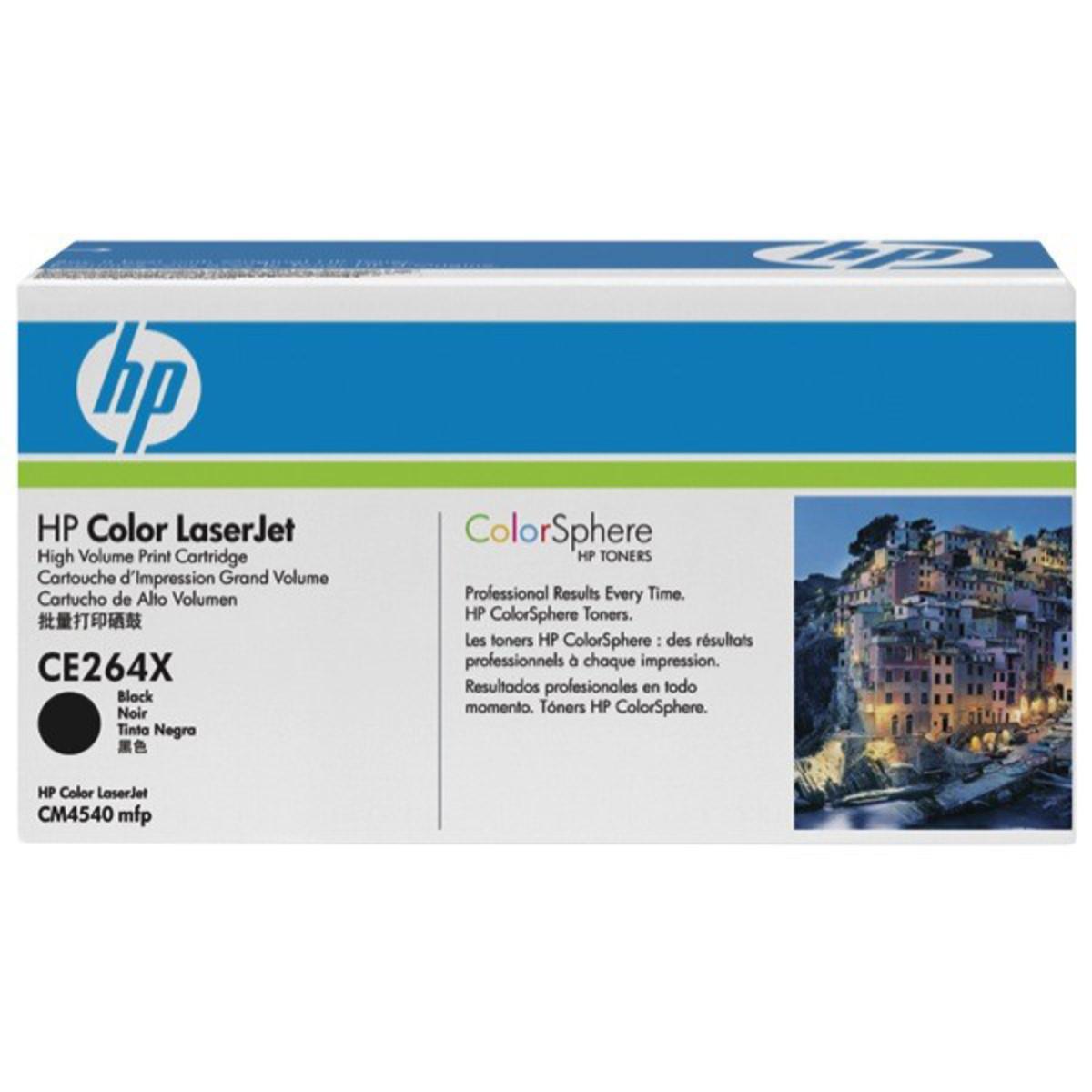 HP 646X (CE264X) Black Toner Cartridge - High Yield