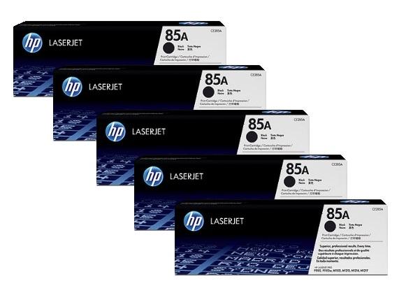 HP 85A Toner Cartridges Value Pack - Includes: [5 x Black]