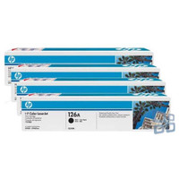 HP 126A Toner Cartridges Value Pack - Includes: [1 x Black, Cyan, Magenta, Yellow]