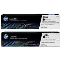 HP 126A (CE310AD) Black Toner Cartridges - Twin Pack