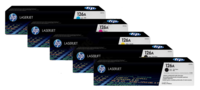 HP 126A CE310A Bundle, Includes 2 x Black, 1 each Cyan, Magenta, Yellow