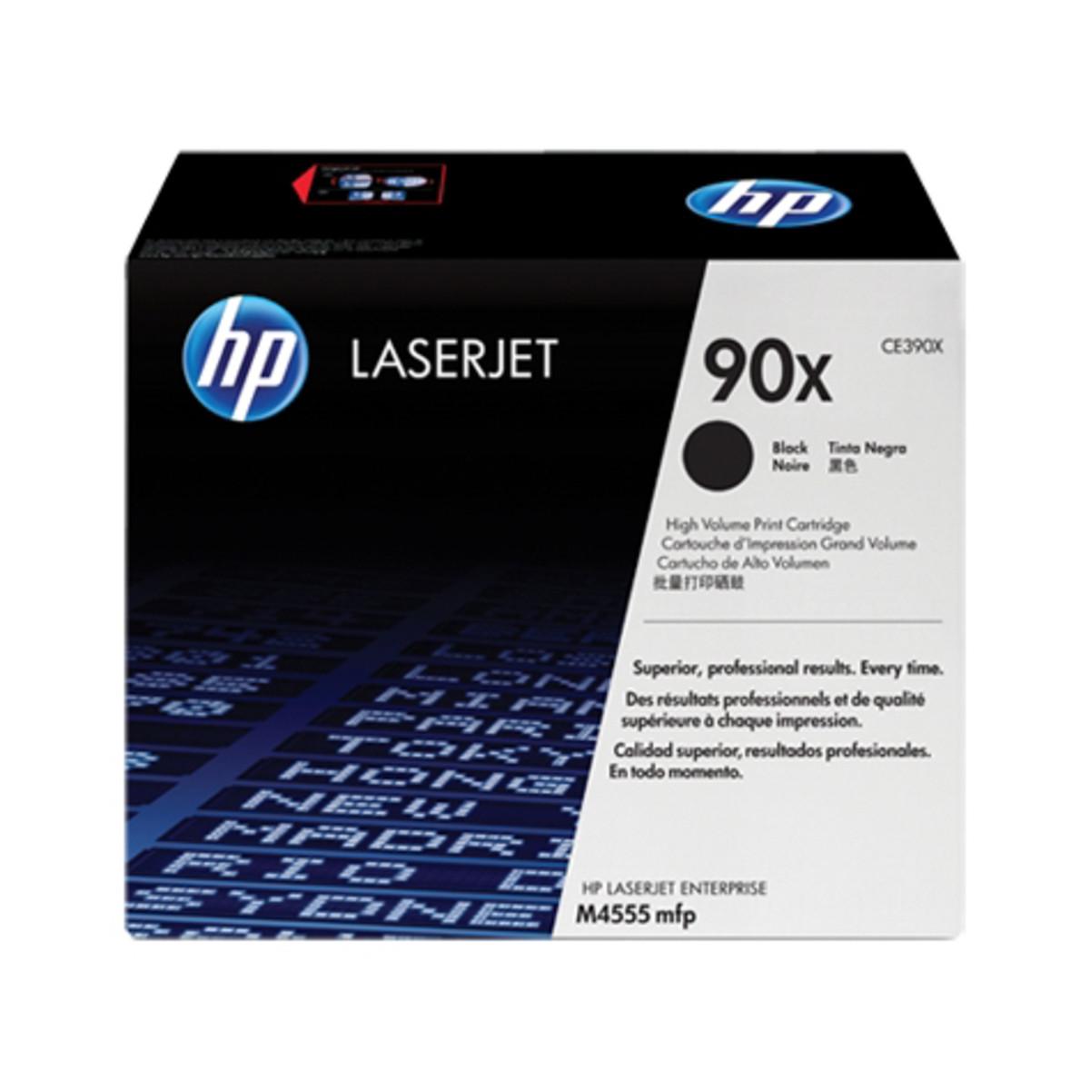 HP 90X (CE390X) Black Toner Cartridge - High Yield