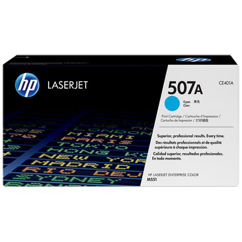 HP 507A Cyan Toner Cartridge (Original)