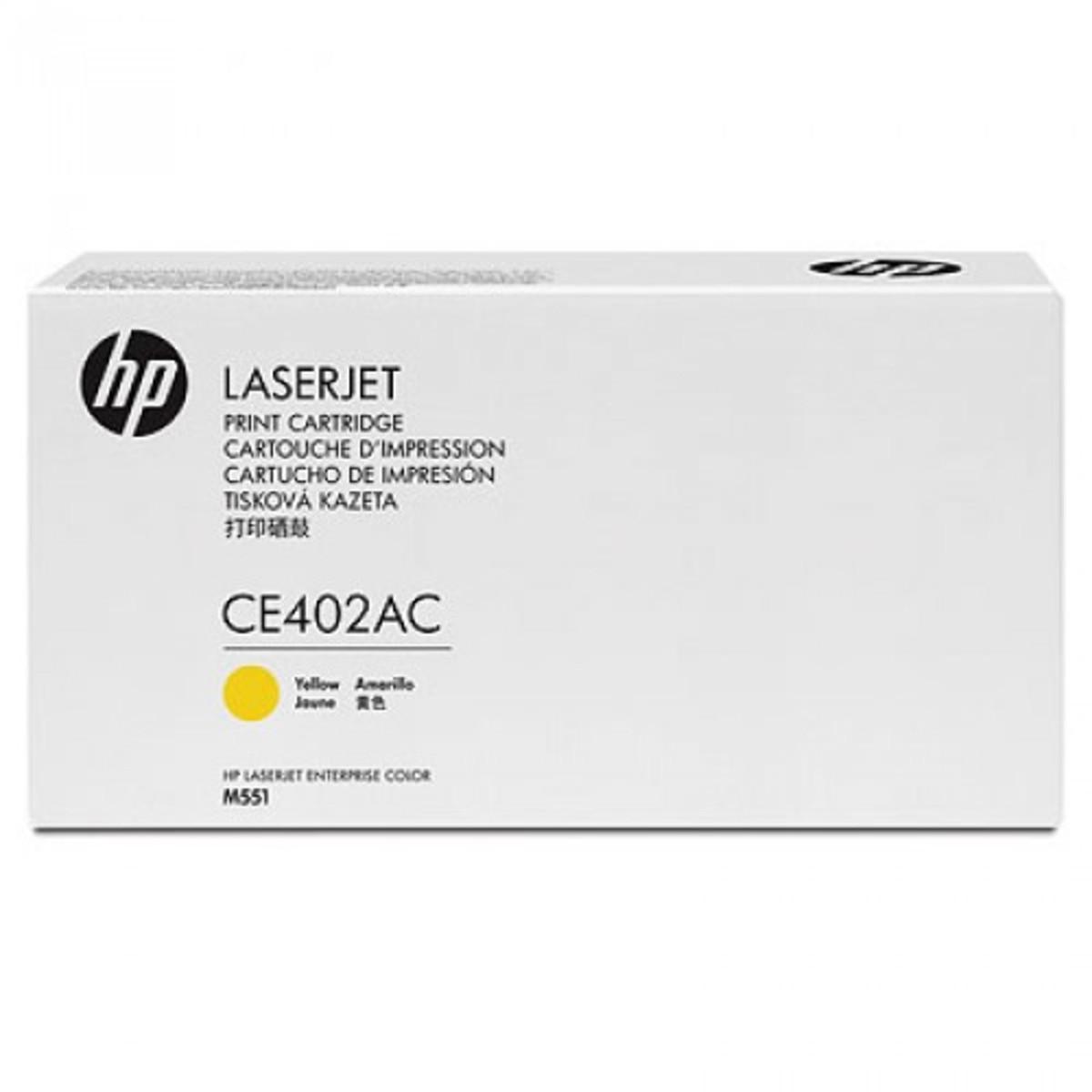 HP 507AC (CE402AC) Yellow Toner Cartridge - Contract Cartridge