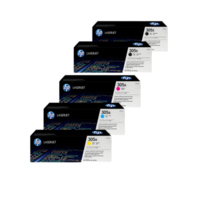 HP 305X Toner Cartridges Value Pack - Includes: [2 x Black, 1 x Cyan, Magenta, Yellow]
