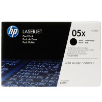 HP 05XD (CE505XD) Black Toner Cartridges - Twin Pack