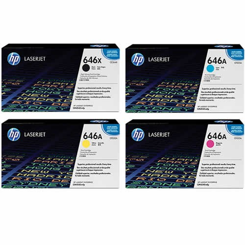 HP 646A Toner Cartridges Value Pack - Includes: [1 x Black, Cyan, Magenta, Yellow]