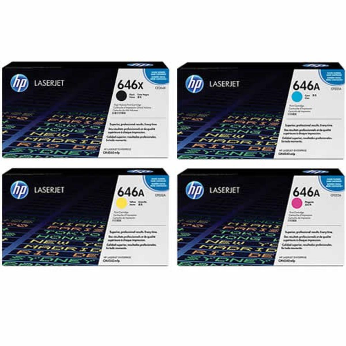 HP 646 (CF031) Colour Toner Bundle