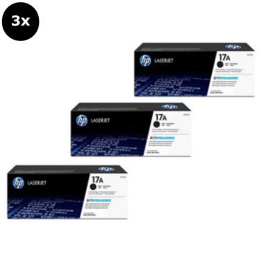 HP 17A Toner Cartridges Value Pack - Includes: [3 x Black]