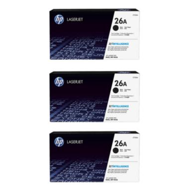 HP 26A Toner Cartridges Value Pack - Includes: [3 x Black]