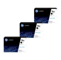 HP 76X Toner Cartridges Value Pack - Includes: [3 x Black]