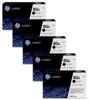 HP 80A Bundle, Includes 5 x Black