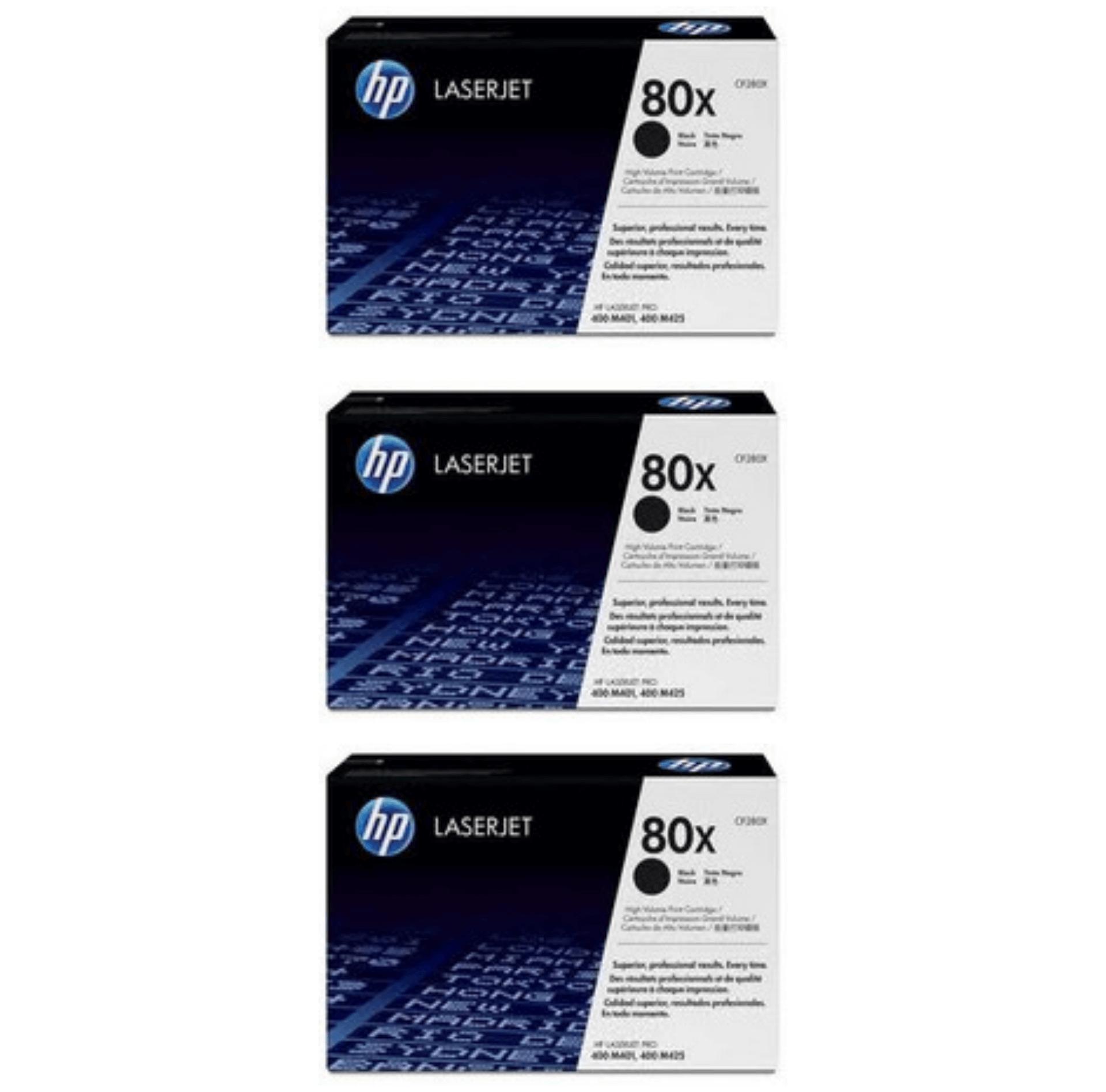 HP 80X Toner Cartridges Value Pack - Includes: [3 x Black]