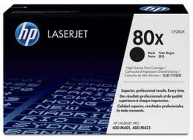 HP 80X (CF280X) Black Toner Cartridge - High Yield