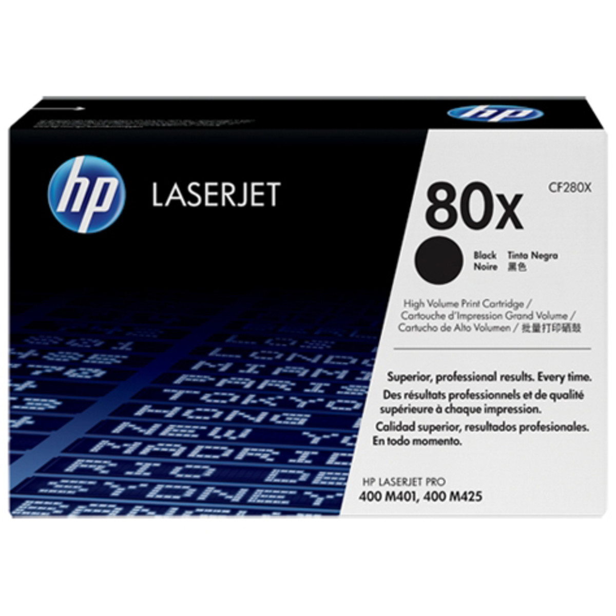 HP 80X (CF280X) Black Toner Cartridge - High Yield