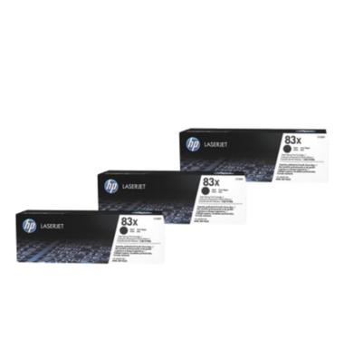 HP 83X Toner Cartridges Value Pack - Includes: [3 x Black]