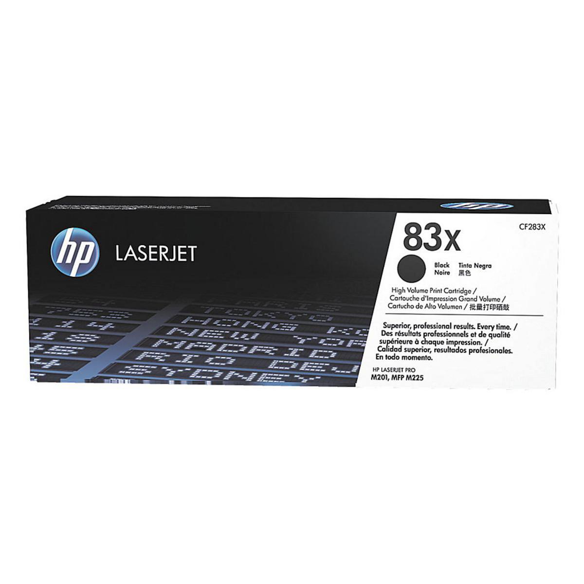HP 83X (CF283X) Black Toner Cartridge - High Yield