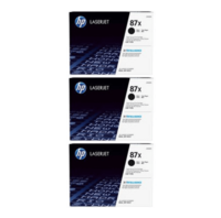 HP 87x Toner Cartridges Value Pack - Includes: [3 x Black]