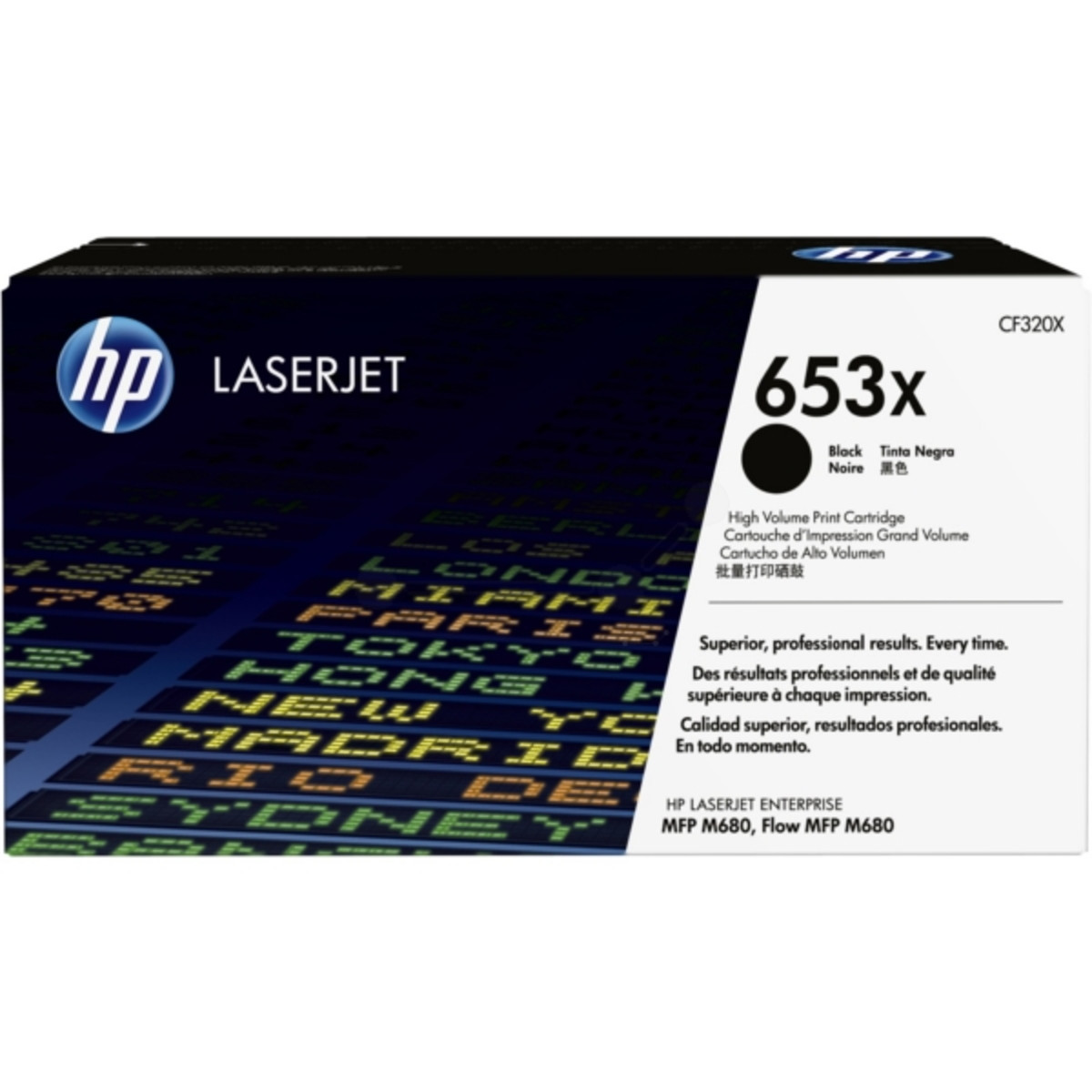 HP 653X (CF320X) Black Toner Cartridge - High Yield