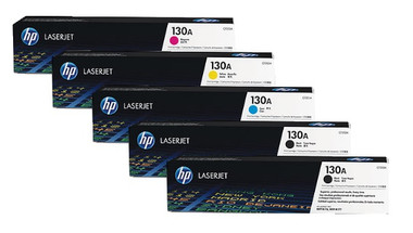 HP 130A Toner Cartridges Value Pack - Includes: [2 x Black, 1 x Cyan, Magenta, Yellow]