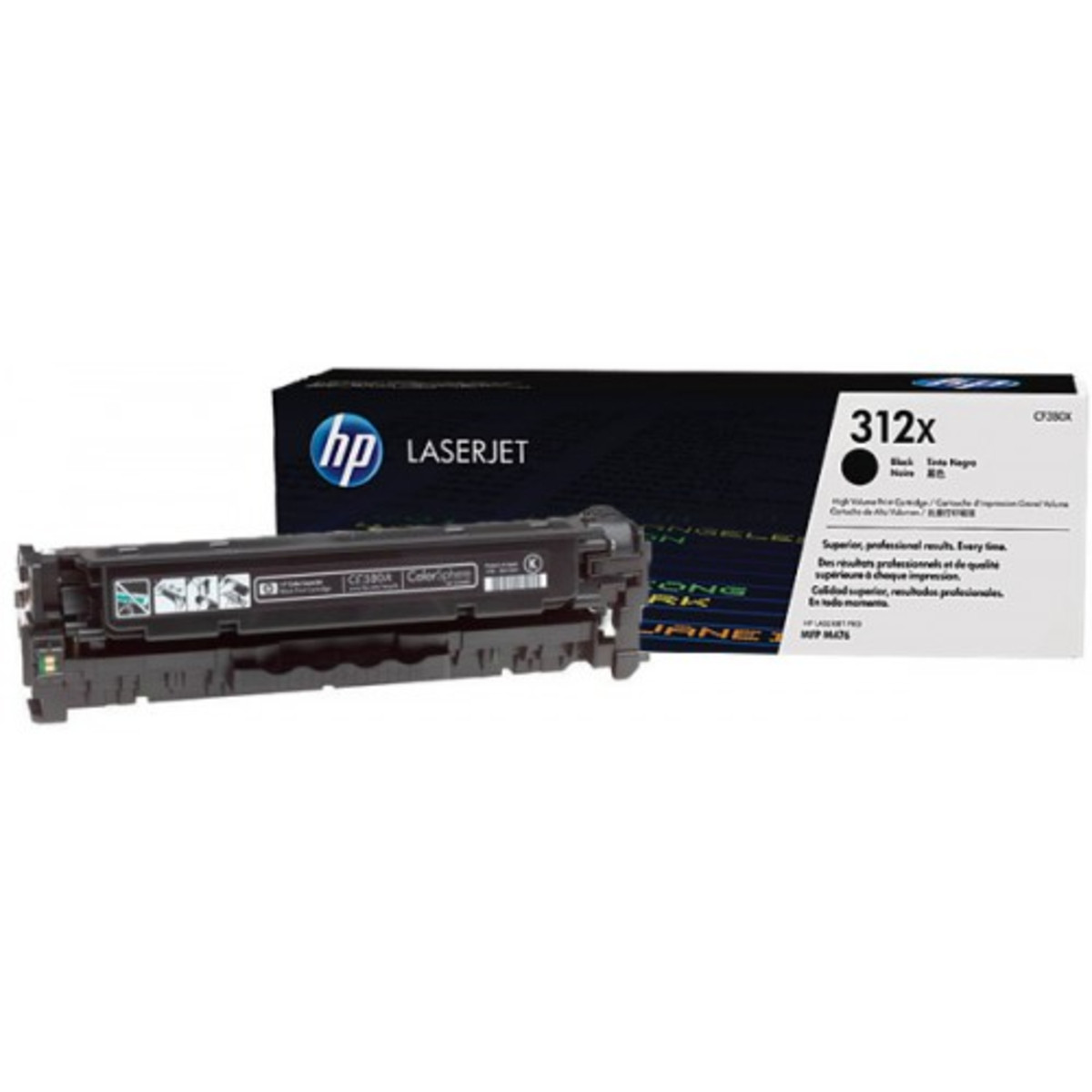 HP 312X (CF380X) Black Toner Cartridge - High Yield