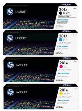 HP 201A Toner Cartridges Value Pack - Includes: [1 x Black, Cyan, Magenta, Yellow]