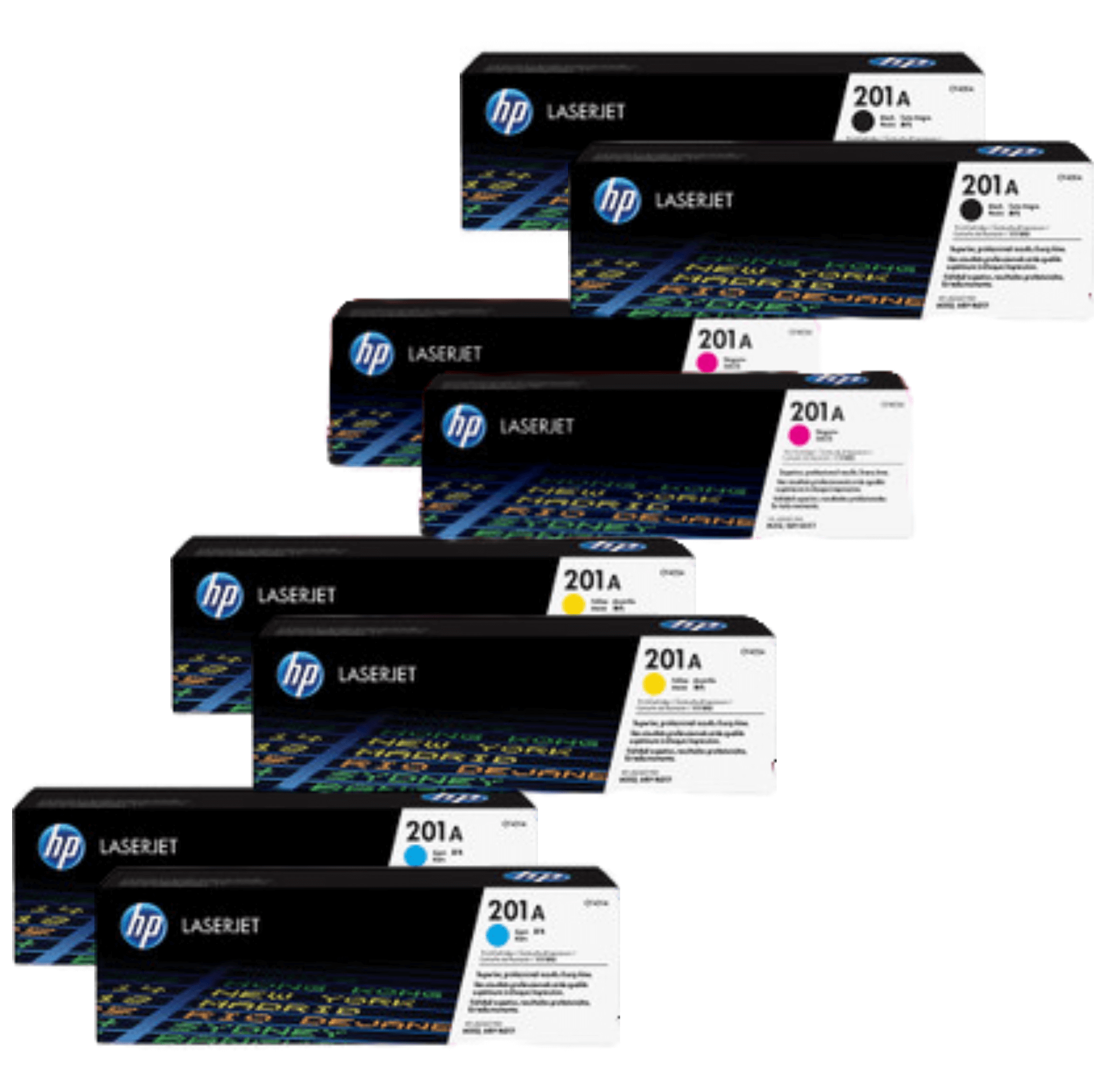 HP 201A Toner Cartridges Value Pack - Includes: [2 x Black, Cyan, Magenta, Yellow]