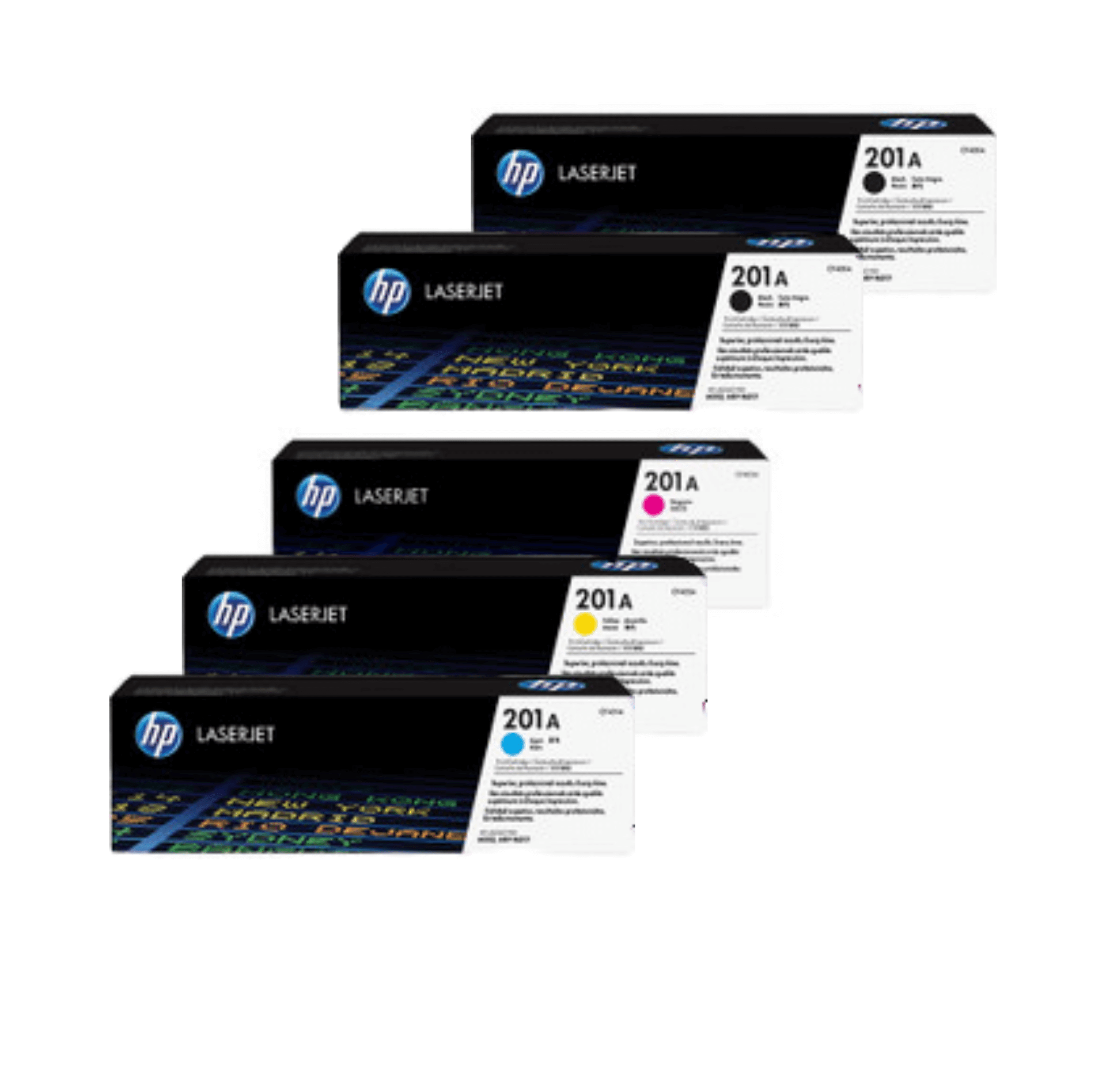 HP 201A Toner Cartridges Value Pack - Includes: [2 x Black, 1 x Cyan, Magenta, Yellow]