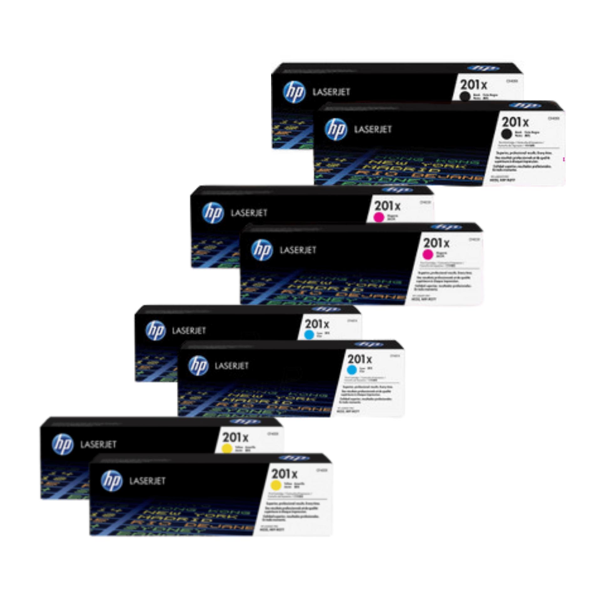 HP 201X Toner Cartridges Value Pack - Includes: [2 x Black, Cyan, Magenta, Yellow]