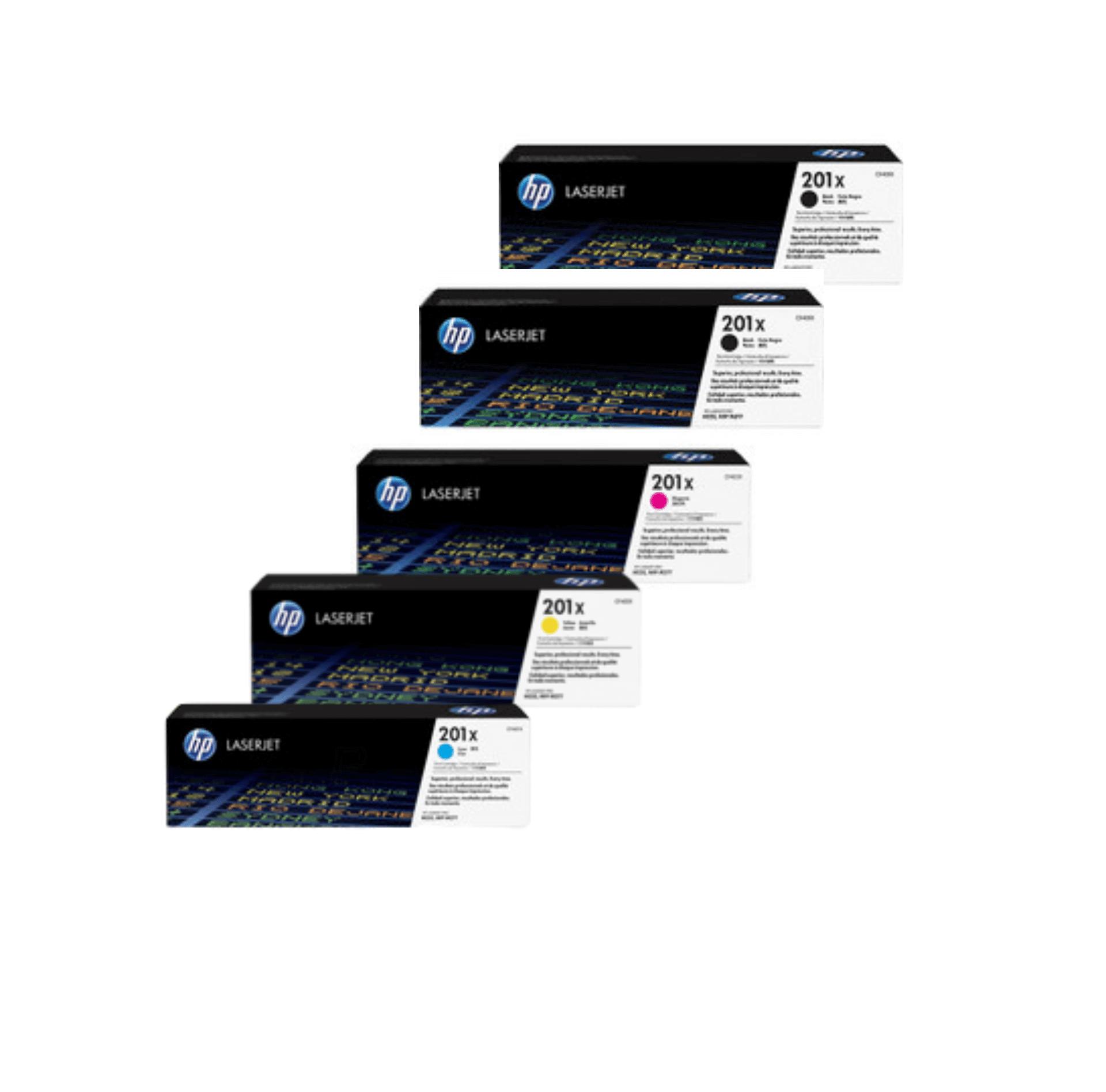 HP 201X Toner Cartridges Value Pack - Includes: [2 x Black, 1 x Cyan, Magenta, Yellow]