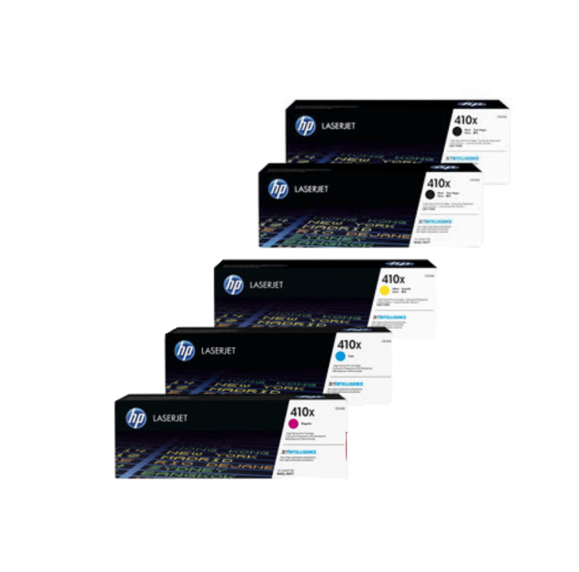 HP 410X Toner Cartridges Value Pack - Includes: [2 x Black, 1 x Cyan, Magenta, Yellow]