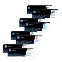 HP 202A Toner Cartridges Value Pack - Includes: [2 x Black, Cyan, Magenta, Yellow]