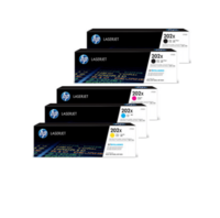 HP 202X Toner Cartridges Value Pack - Includes: [2 x Black, 1 x Cyan, Magenta, Yellow]