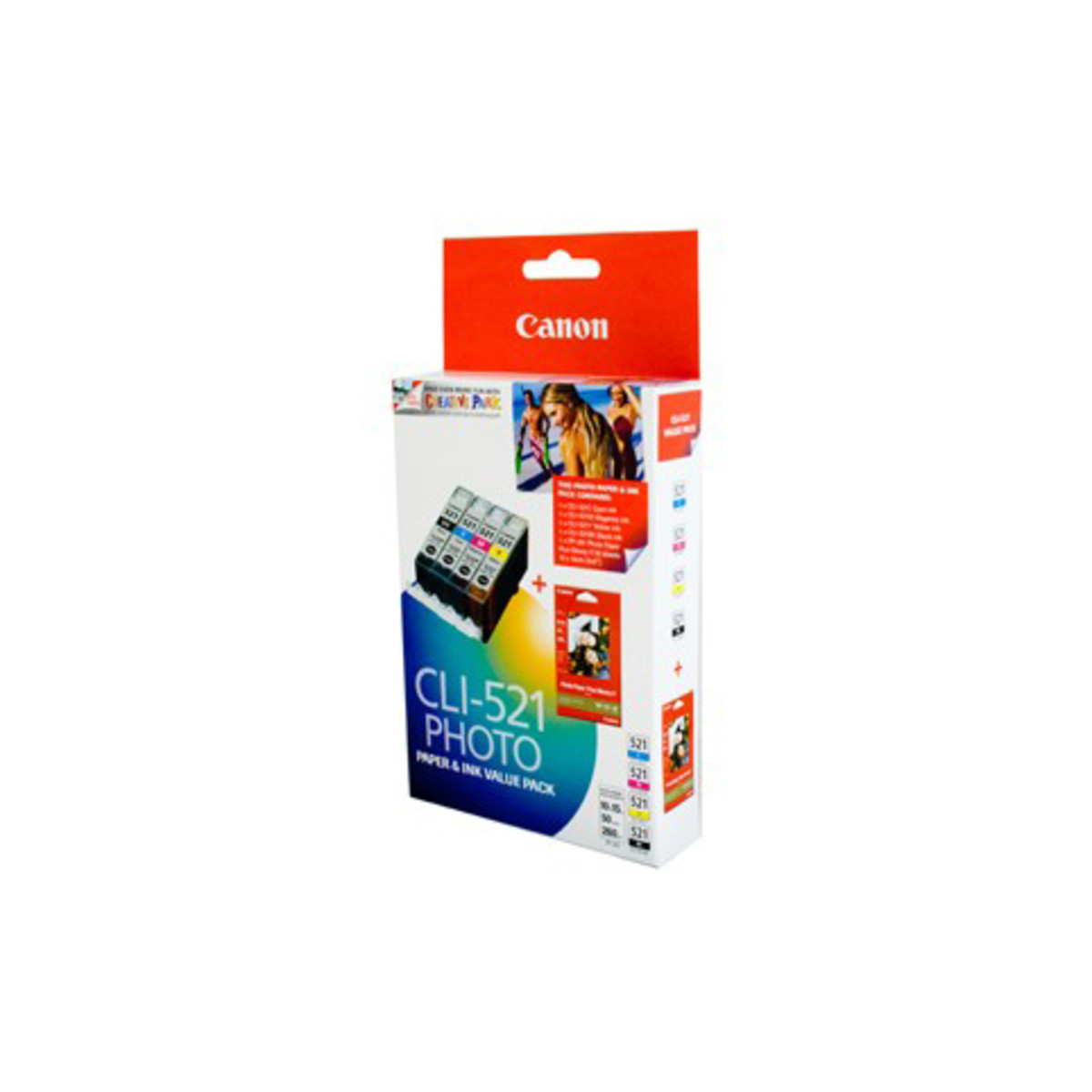 Canon CLI-521 Photo Ink Cartridges - Value Pack