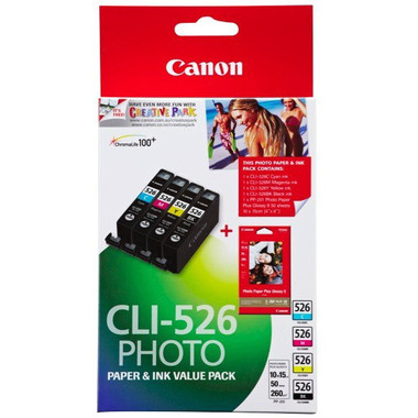 Canon CLI-526VP Photo Ink Cartridges - Value Pack