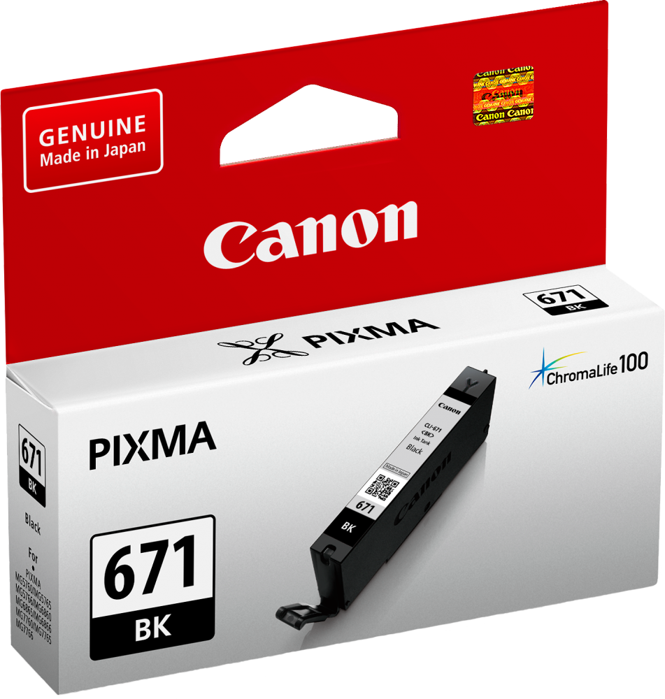 Canon CLI671 Photo Black Ink Cartridge (Original)