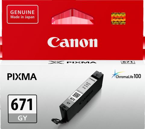 Canon CLI671 Grey Ink Cartridge (Original)