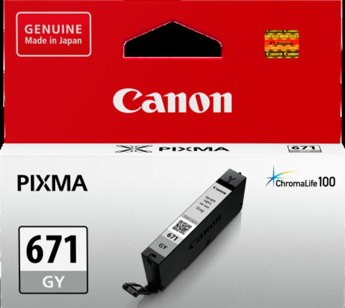 Canon CLI671GY Light Grey Inkjet Cartridge