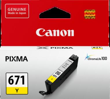 Canon CLI671 Yellow Ink Cartridge (Original)