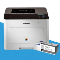Samsung CLP-680DW Colour Laser Printer + CLT-K506L Black Toner Cartridge