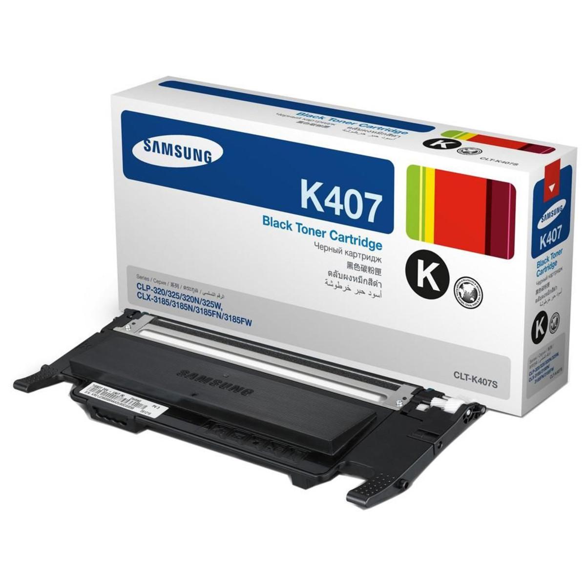Samsung CLT-K407S Black Toner Cartridge
