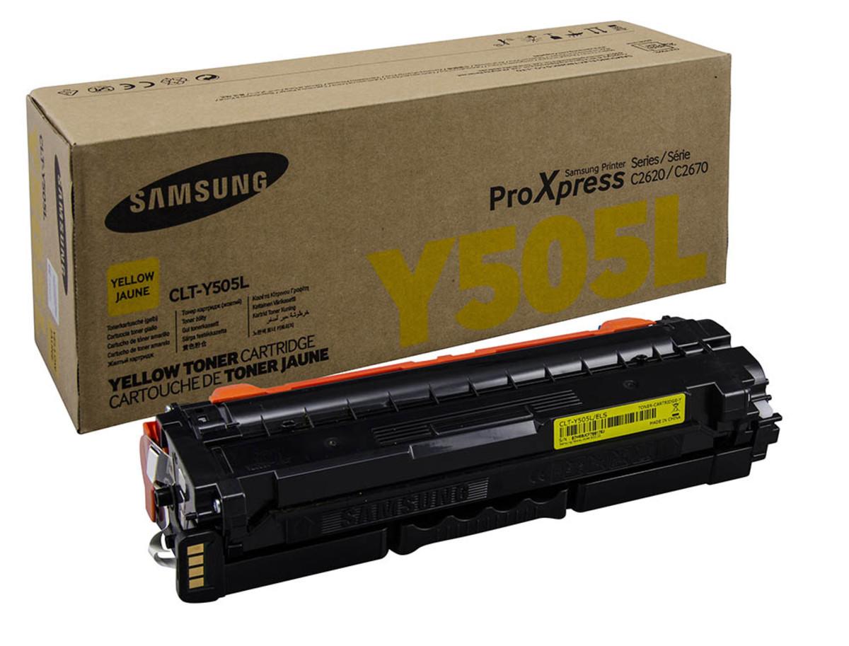 Samsung CLT-Y505L Yellow Toner Cartridge