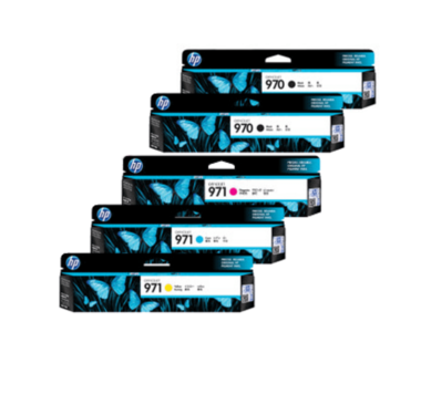 HP 970/971 Ink Cartridge Value Pack - Includes: [2 x Black, 1 x Cyan, Magenta, Yellow]