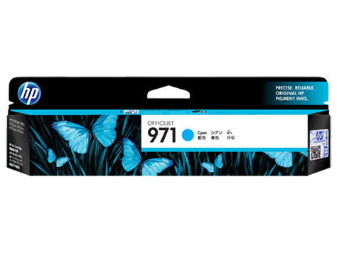 HP 971 Cyan Ink Cartridge (Original)