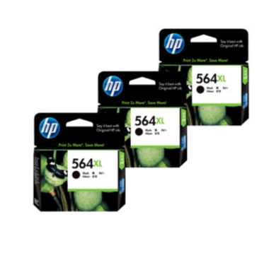 HP 564XL Ink Cartridge Value Pack - Includes: [3 x Black]